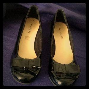 Girls black wedge shoes